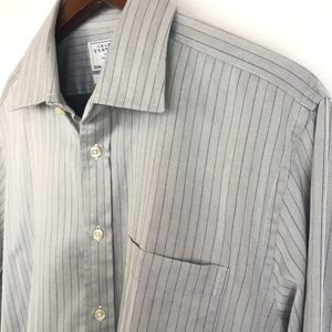 Charles Tyrwhitt Mens Button Front Shirt Slim Fit